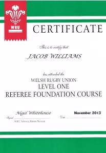 Jacob's Referee Certificate 001